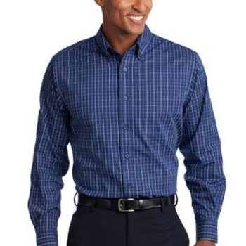 Tall Tattersall Easy Care Shirt Thumbnail