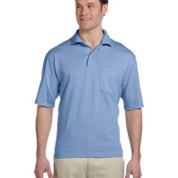 Adult 5.6 oz. SpotShield™ Pocket Jersey Polo Thumbnail