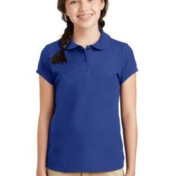 Girls Silk Touch ™ Peter Pan Collar Polo Thumbnail