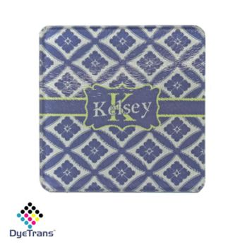 Square DyeTrans Glass Coaster, with White Sublimation Backing, 3.93